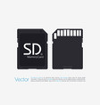 top view sd memory card memory chip isolated vector image