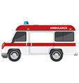 ambulance van on white background vector image