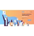 arabic business team hand hold cv resume arab vector image vector image