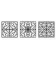 art deco floral seamless wallpaper vector image