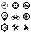 bicycle service 9 icons set vector image vector image