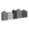 building housing street in grey vector image vector image