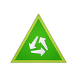 circle of the arrows in the green triangle vector image vector image