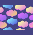 clouds seamless pattern with purple and blue vector image vector image