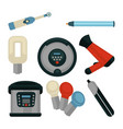 common electrical home appliances isolated flat vector image
