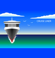 cruise liner in the ocean vector image