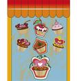 Cupcake design vector image