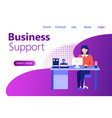 customer service businesswoman banner vector image vector image