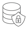 database protection thin line icon data analytics vector image vector image