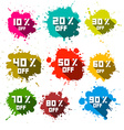 Discount Splashes - Labels Set vector image vector image