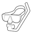 Diving mask icon isometric 3d style vector image vector image
