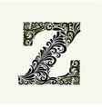 elegant capital letter z in style the vector image