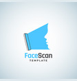 face scan abstract sign emblem icon or vector image