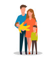 family mom dad their children boy and girl flat vector image vector image
