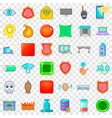 fingerprint icons set cartoon style vector image vector image