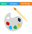 Flat design icon of School palette vector image vector image