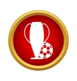 Football cup icon simple style vector image