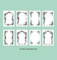 frames set for invitation vector image vector image