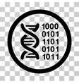 genetical code icon vector image vector image