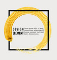 gold hand drawn paint brush stroke isolated vector image