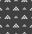 Gold Icon sign Seamless pattern on a gray vector image