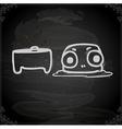 Hand Drawn Dead Alien vector image vector image