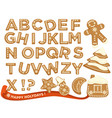 happy holidays christmas abc letters font vector image vector image