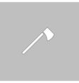 hatchet computer symbol vector image vector image