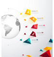 infographic template with five colorful shapes vector image vector image