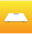 isolated white weighing scale on orange background vector image