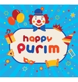 Jewish holiday Purim carnival flat icons and vector image vector image