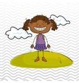 kid cloud meadow icon vector image