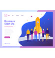 landing page template of business start up vector image
