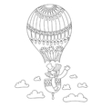 line art of circus theme - clown in a vector image vector image