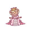 little princess queen vector image