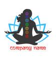 logo yoga11 vector image