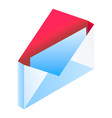 mail icon isometric style vector image