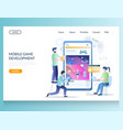 mobile game development website landing vector image