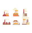 modern power plants collection hydrothermal vector image vector image