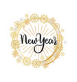 new year lettering hand drawn text merry christmas vector image vector image