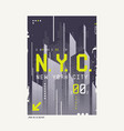 new york city t-shirt abstract geometric vector image vector image