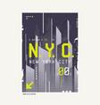 New york city t-shirt abstract geometric