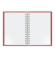 Notebook on white background for design vector image