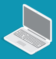 opened grey laptop modern technology device vector image vector image