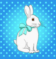 pop art easter bunny comic book style imitation vector image vector image