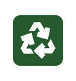 recycle isolated symbol vector image vector image