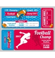 Rugby football sports ticket card retro vector image vector image