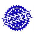 scratched textured designed in us stamp seal vector image vector image
