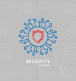 security typography with sheild logo vector image