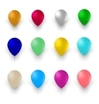 Set of Colorful Air Balloons Isolated on White vector image vector image